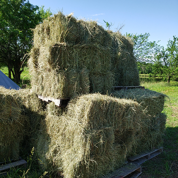 stack of small bales